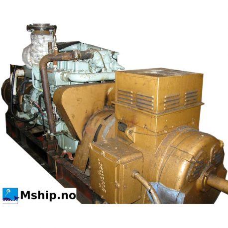 Mitsubishi  6D24-TCE2  fitted with two generators, Indar RLC280-N  (380 volt) b)  Indar N280-LB  (220 volt)