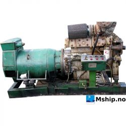 Cummins 6BT5.9 generator set with 90 kWA generator     mship.no