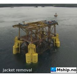 Plattform Jacket decomissioning equipment - Heavy Lift salvage bouys system