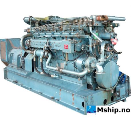 SACM Poyaud A 12150 SCrl V12 generator set 550 kWa https://mship.no