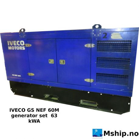 IVECO GS NEF 60M generator set  63 kWA   https://mship.no