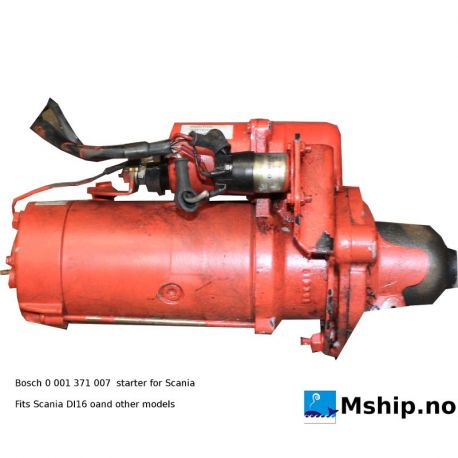 Bosch starter for Scania 0 001 371 007 https://mship.no