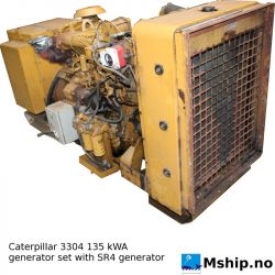 Caterpillar 3304 135 kWA generator set with SR4 generator https://mship.no