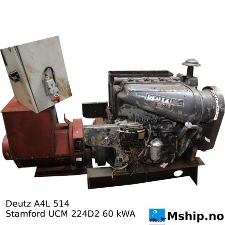 Deutz A4L 514 generator set 60 kWA https://mship.no