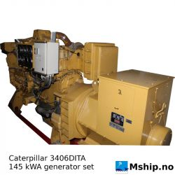 Caterpillar 3406DITA 145 kWA generator set https://mship.no