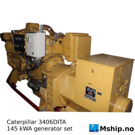 Caterpillar 3406DITA 145 kWA generator set https://mship.no