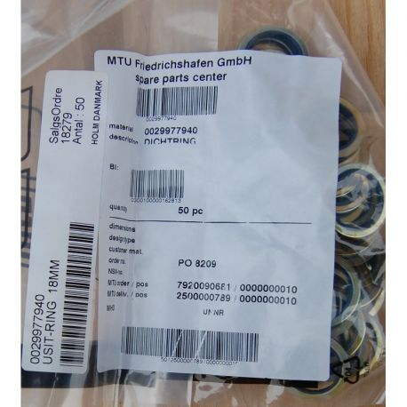 MTU 0029977940 SEALING RING