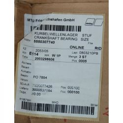 MTU 5550307740 CRANKSHAFT BEARING