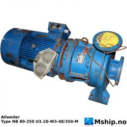 Allweiler NB 80-250   16M³/h  pump   https://mship.no
