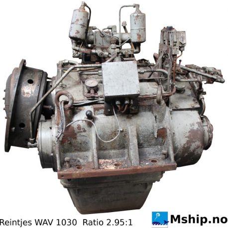 Reintjes WAV 1030 with  2,95:1 gear ratio.   https://mship.no