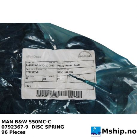 MAN S50MC-C Disc Spring https://mship.no