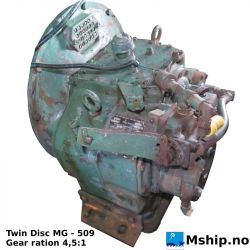 Twin Disc MG - 509 with gear ratio 4,5:1 https://mship.no