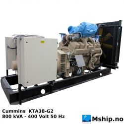 Cummins KTA38-G2 800 KVA generator set https://mship.no