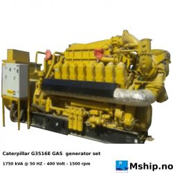 Caterpillar G3516E GAS generator set - 1750 kVA - New unused unit.