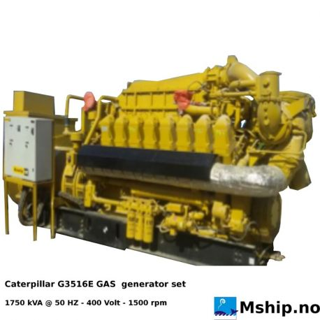 Caterpillar G3516E GAS generator set - 1750 kVA https://mship.no