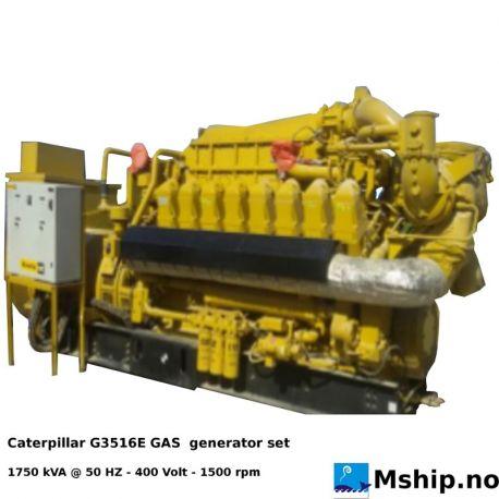 Caterpillar G3516E GAS generator set - 1750 kVA https://mship.no