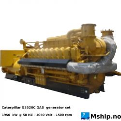 Caterpillar G3520C GAS generator set - 1950 kW - NEW unused unit