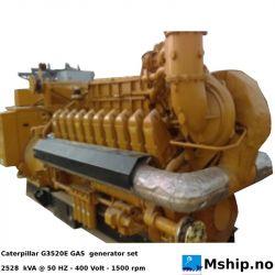 Caterpillar G3520E GAS generator set - 2528 kVA