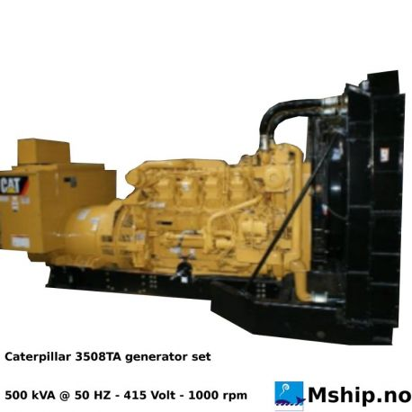 Caterpillar 3508TA generatorset 500 kVA https://mship.no