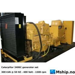 Caterpillar 3406C Diesel generatorset 500 kVA https://mship.no
