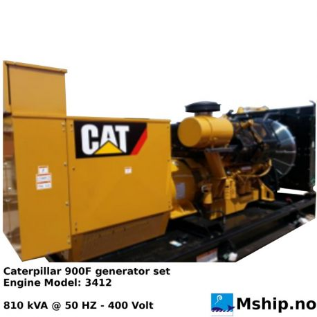 Caterpillar 900 F 810 kVA generatorset - https:77mship.no