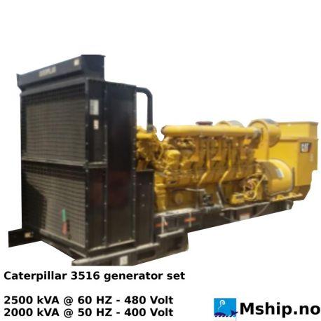 Caterpillar 3516 Diesel generatorset 2000/2500 kVA https://mship.no