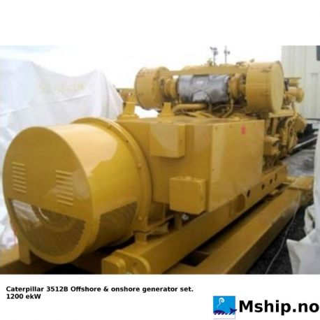 Caterpillar 3512B Diesel generatorset - New unused unit. https://mship.no
