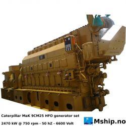 MaK 9CM25 HFO generatorset 3240 kVA