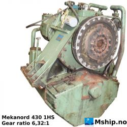 Mekanord 430 1HS Gear ratio 6,32:1 https://mship.no