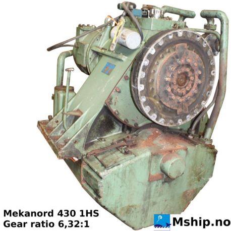 Mekanord 430 1HS Gear ratio 6,32:1 https://mship.no
