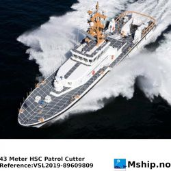 43 Meter HSC Patrol Cutter https://mship.no