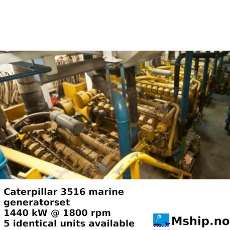 Caterpillar 3516 DITA marinel generatorset 1440 kW https://mship.no