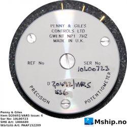 Penny & Giles D20492 potiometer