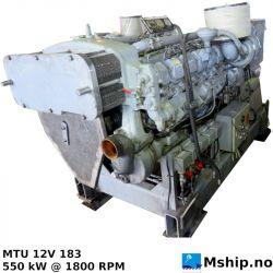 MTU 12V 183 generatorset 625 kWA