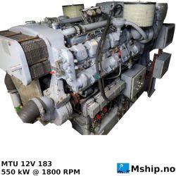 MTU 12V 183 generatorset 625 kWA https://mship.no