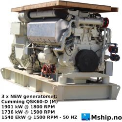 Cummins QSK60-D (M) QSK60-D (M) marine generator set - https://mship.no