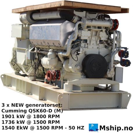 Cummins QSK60-D (M) QSK60-D (M) marine generator set - https://mship.no