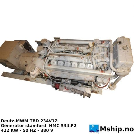DEUTZ MWM TBD 234 V12 generator set https://mship.no