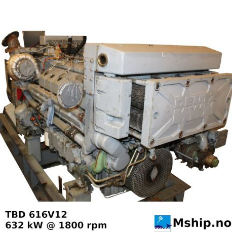 DEUTZ MWM TBD 616 V12 - 632 kVA / 1800 rpm https://mship.no