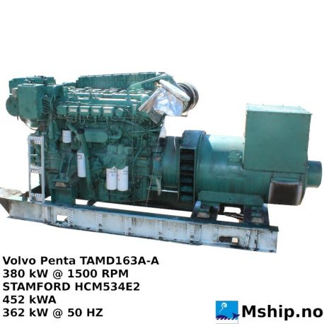Volvo Penta TAMD163A-A with Stamford Generator https://mship.no