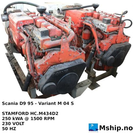 Scania D9 95M generator set https://mship.no