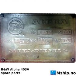 B&W Alpha 403V spare parts https://mship.no