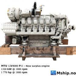 MTU 12V400 P11 new engine https://mship.no