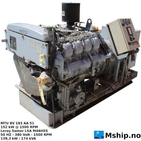 MTU 8V 183 AA 51 174 kVA generatorset https://mship.no