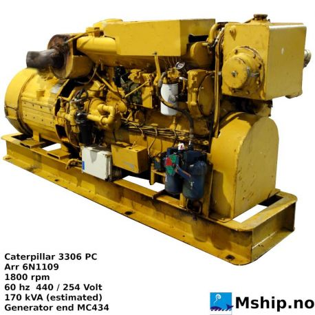 Caterpillar 3306 PC generator set https://mship.no