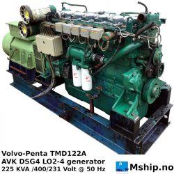 Volvo-Penta TMD122A 225 KVA generator set https://mship.no