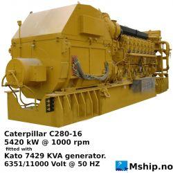 Caterpillar C280-16 generator set https://mship.no