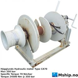 Mooring winch with Hägglunds CA70 hydraulic motor. https://mship.no