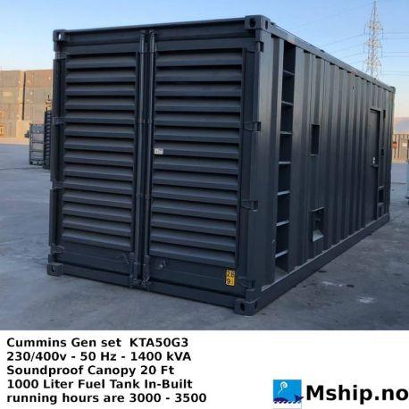 Cummins Gen set KTA50G3 230/400v - 50 Hz - 1400 kVA https://mship.no