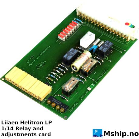 Helitron LP 1/14 relay and adjustments card https://mship.no